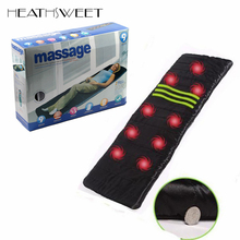 Healthsweet Full Body Heating Vibrating Massage Mattress Massage Cushion Bed Electronic Massage Therapy Back Massage Massageador(China)