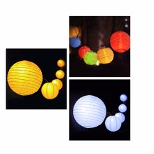 Lantern Ball Solar String Lights 30 LED Solar Lamp Outdoor Lighting Fairy Globe Christmas Decorative Light for Party Holiday(China)
