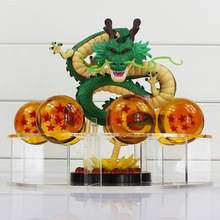 Dragon ball z toy action figures New Dragonball figures 1 figure dragon shenlong + 7 crystal balls 4cm + 1 shelf brinquedos