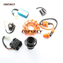 42mm Air Filter & Performance Coil AC CDI & Flasher & Relay & Fan Kit for GY6 ATV Kart Scooter 152QMI 157QMJ 125cc 150cc(China)