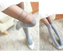 Buy New 2018 spring women sexy shinning hosiery tights slim lace dot silver wire pantyhose pre-fall fake stockings harajuku lolita