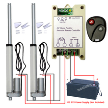 "Bundle Kit: 2x200mm 8"" Stroke Linear Actuator 1000N/220lbs DC Motor W/ Positive Inversion Controller W/ Bracket for Traction Bed(China)"