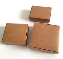 500gsm Thick 125x125x40mm 20pcs Gift packaging carton paper box,thick kraft paper fold able cardboard small pakcage paper box