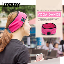 LONGET Wireless Bluetooth Hat Earbuds Headset Headphone Bluetooth speaker outdoor sports Yoga Sweat Scarf mp3 player handsfree(China)
