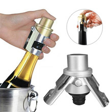 Stainless Steel Red Wine Champagne Bottle Preserver Air Pump Stopper Vacuum Sealed Saver(China)