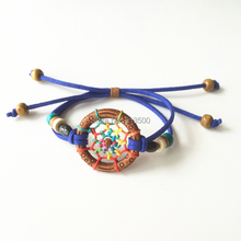 Dreamcatcher Friendship Bracelet Ethnic Dream Catcher Twilight Wrap Wristband(China)