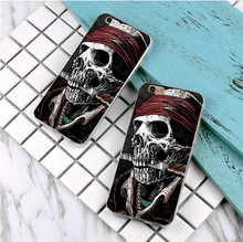 Death Pirates design plastic case For Samsung Galaxy s3 s4 s5 s6 s7 edge phone cover for iphone 5s 5 5c SE 6 6s 7 plus 4 4s(China)