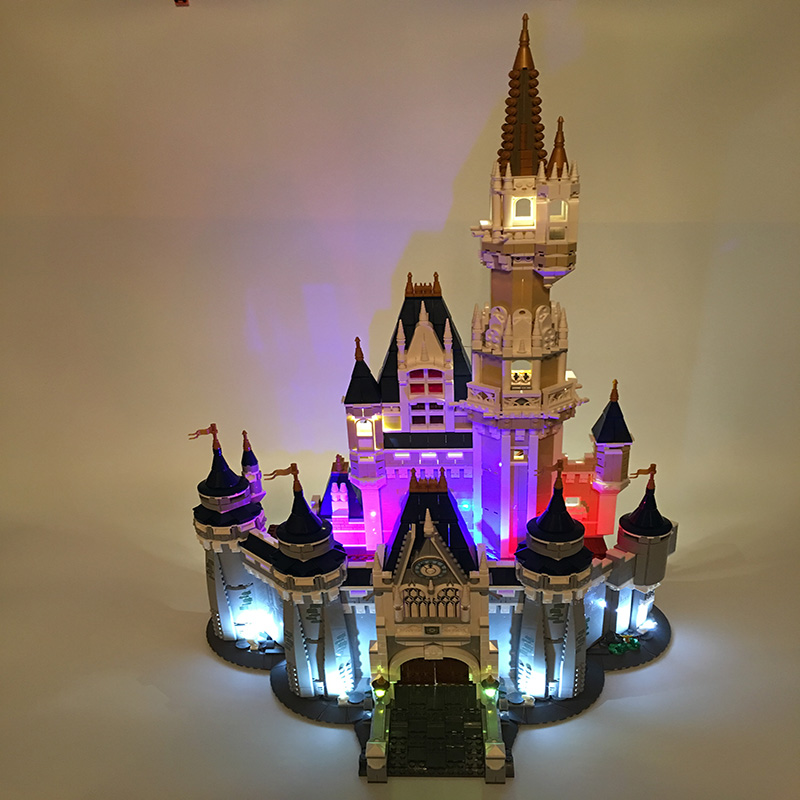 Building Blocks City Street 16008 Cinderella Princess Castle Led Light Set For Legoing 71040 Toys Creator City Street Lighting (7)