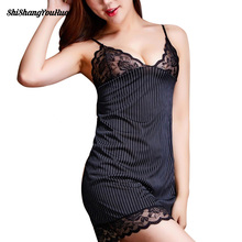 Explosion models 1 pc Striped Lace Bra Women Sexy intimates Lingerie Office Lady Uniform Bodydoll Sleepwear Lace(China)