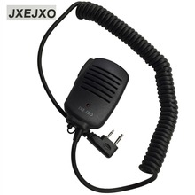 JXEJXO 2 PIN Handheld PTT Speaker Mic Microphone For ICOM V8 F21 F11 V82 V85 F26 Radios 8mm With 3.5mm Earphone Plug Wholesale
