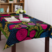 Ethnic wind printing table cloth Canvas party table cloth waterproof cover towel rectangular for children brush room dinner