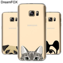L053 Funny Cat Dog Soft TPU Silicone Case Cover For Samsung Galaxy Note 3 4 5 S5 S6 S7 Edge S8 Plus Grand Prime