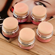 New Women Girls 3D Pure Mineral Face Cheek Soft Natural Blush Blusher Powder Cosmetic With Sponge  Fashion