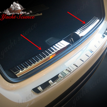 Car styling Interior Rear Bumper Tailgate Trunk Guard Sill Plate Scuff Trim Cover For Benz GLA class GLA180 GLA200 GLA220 GLA260