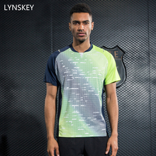 LYNSKEY Mens Tennis Shirts Badminton T-Shirts Table Tennis Clothing Breathable Jersey Quick Dry Sports Tops