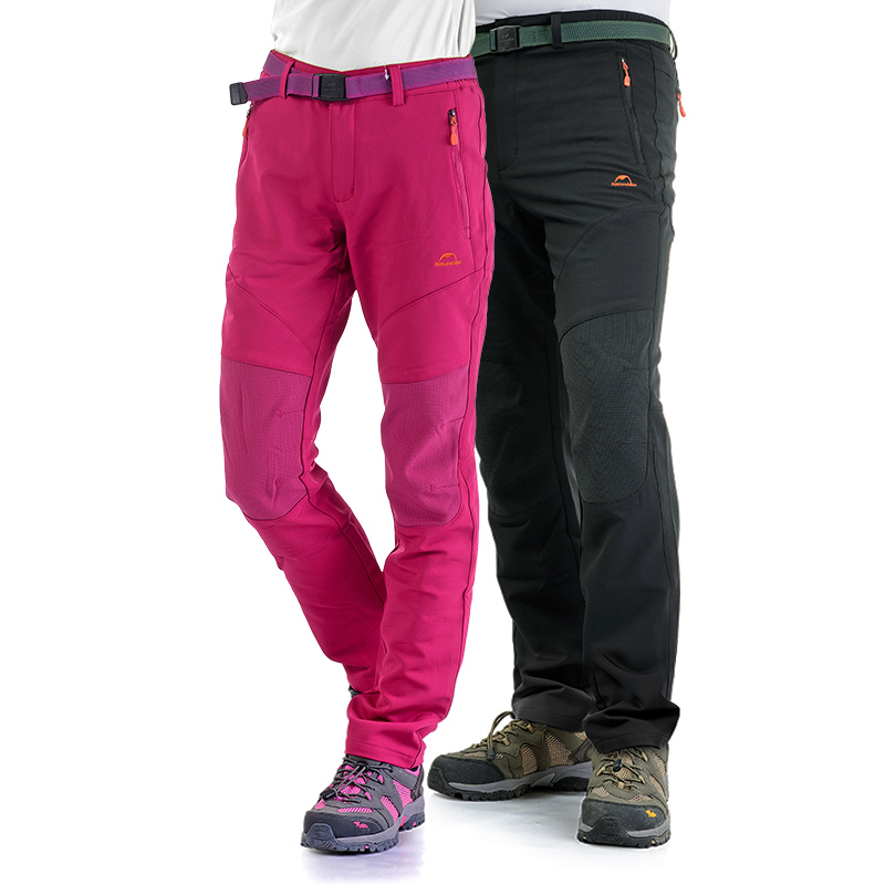 Naturehike Thick Warm Waterproof Windproof Fleece Softshell Outdoor Hiking Pants Trousers Spring Autumn Winter Pants NH16F016-M<br>