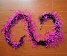 New ! 1pc/lot Luxury BLACK & Rose OSTRICH BOA MARABOU FEATHER BOA - dance, costume, burlesque FREESHIPPING(China)