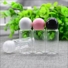free shipping 15ml  ball lid plastic cosmetic shampoo  latex perfume packaging bottle mini empty cosmetic containers