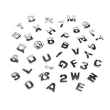 5 pieces New DIY Customed Car Sticker Styling Chrome 3D Self-adhesive Silver Letter Number Symbol For Auto and Wall Decoration(China)