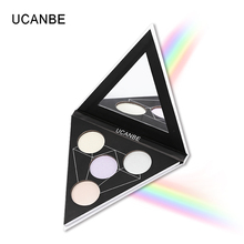 UCANBE 4 Color Duochrome Prismatic Face Highlighter Palette Makeup Bright Illuminating Powder Kit Glow Shimmer Rainbow Highlight(China)