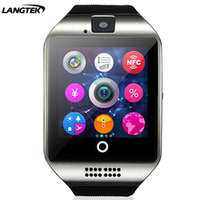 NFC Bluetooth Smart Watch Q18- With Camera facebook Sync SMS MP3  Support Sim TF Card For xiao mi Android Phone PK A1 DZ09 GT08