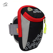 Tanluhu 6in Outdoor Sport Running Arm Bag Wrist Pouch Exercise Jogging GYM Adjustable Waterproof Phone Arm Bag for iPhone 7 plus(China)