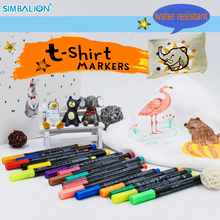simbalion t-shirt textile marker metallic colored drawing liners feutre alcool graffiti paint pen Water resistance manga markers(China)