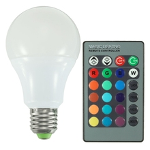 LED Bulb Lamps AC85-265V E27 RGB 16 Color Changing LED Globe Light Lamp Bulb With 24 Keys Remote Control 5W 10W 20W