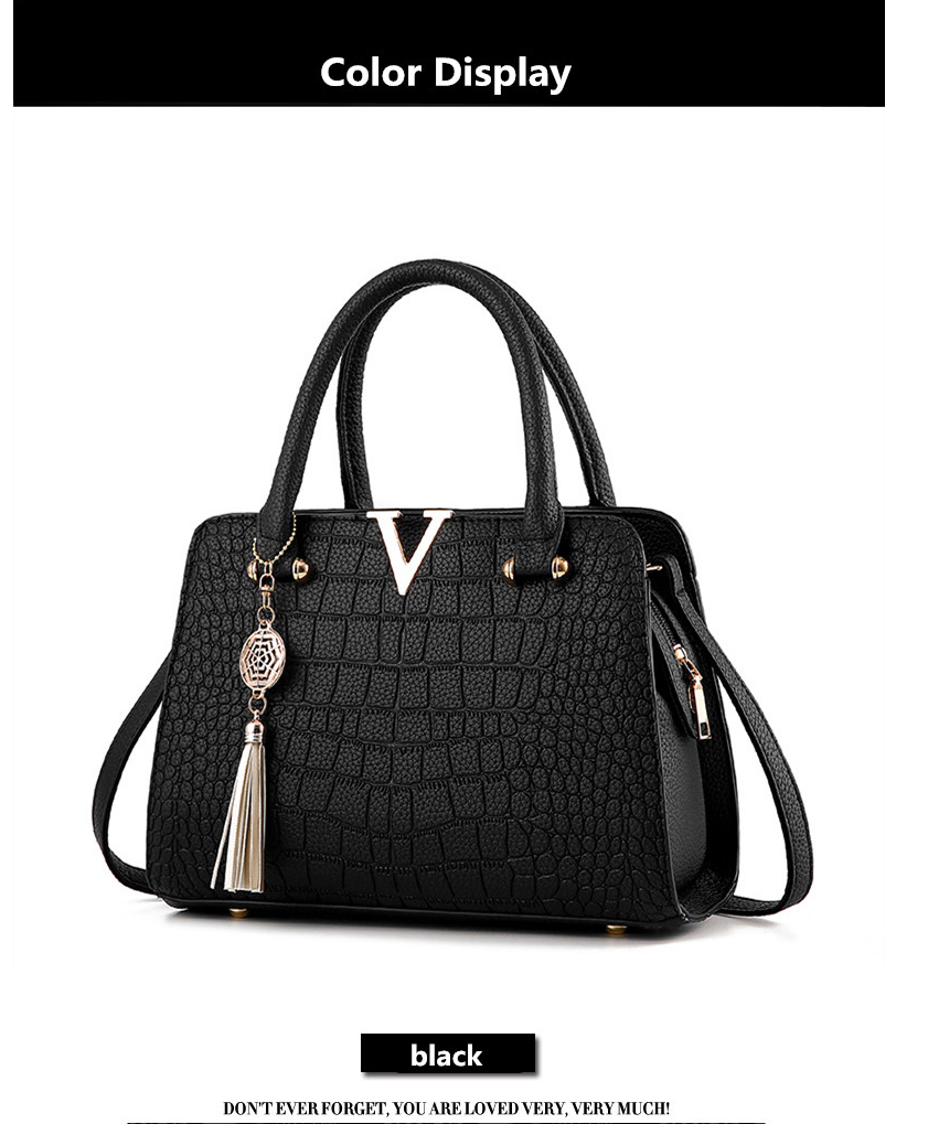 Crocodile Leather Luxury Quality Lady Shoulder Bags 8