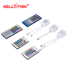RGB RGBW LED strip music controller Infrared remote Single color white warm white DC 12V 24V Hello Fish(China)