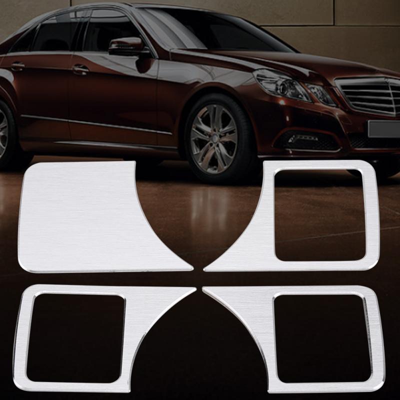 Qiilu Car Seat Adjust Button Switch Cover Decorative Sticker Trim For Mercedes Benz C E GLK GL ML