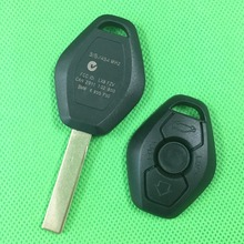 1pcs/lot With Sticker 3 Button Remote Key Shell For BMW E38 E39 E46 Fob Key Case Cover with logo