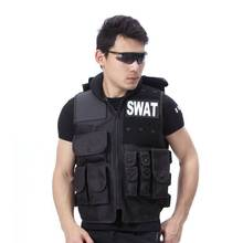 Genuine Man's tactical vest ,bulletproof vest model Molle Tactical Black vest cs vest swat protective equipment(China)