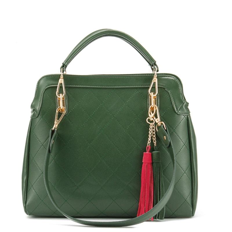 Wholesale  spring new  women messenger bags paragraph Lingge tassel big bag diagonal Ms. portable shoulder bag<br><br>Aliexpress