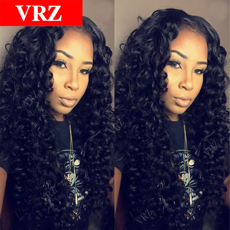 Virgin Brazilian Hair Wig Curly Glueless Full Lace Wig Unprocessed Human Hair Curly Lace Front Wigs for Black Women<br><br>Aliexpress