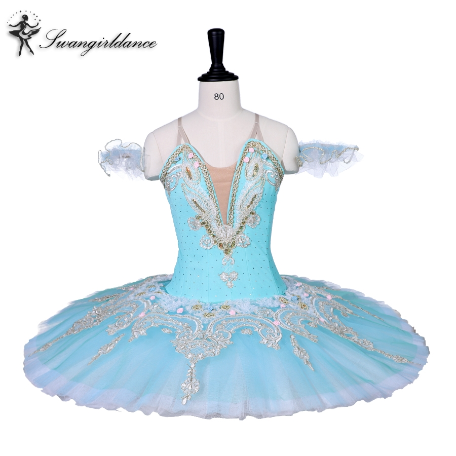 girls light blue swan lake ballet tutu,pink professonal ballet tutu for competition,ballet costumes for girlsBT9059