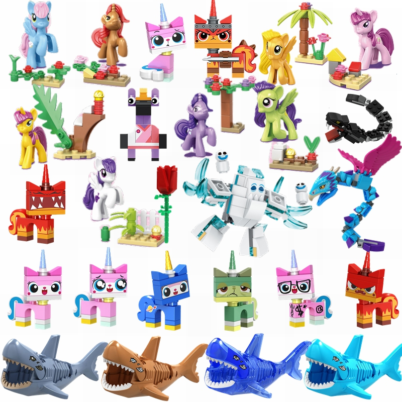 Single Sale XH570 Grinch Merry Christmas Creator Super Hero Kitty Horse Friends Movies Action Figures Building Blocks Brick Toys