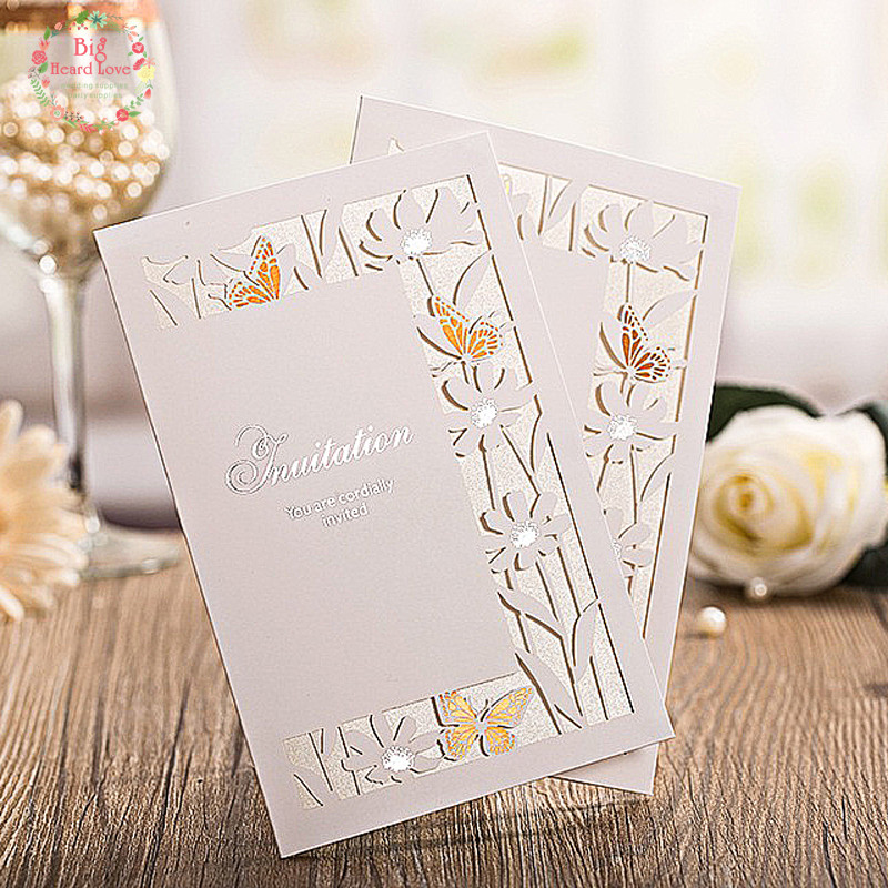 Online Buy Wholesale butterfly wedding invitation cards from China – Butterfly Wedding Invite