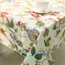 2016 New new Factory direct cotton double-double dimensional printing tablecloths table linen tablecloth restaurant suit whole(China)