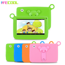 7 inch WeCool Children Tablet PC with Silicon Bracket Case Android 4.4 OS Quad Core 8GB HD Screen Kids EDU Games PAD 4 colors(Hong Kong,China)