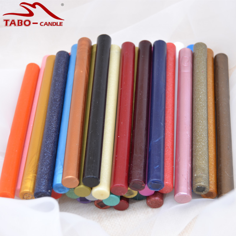 Popular Classical Wax Seal Stick In 32 Wonderful Colors for Glun Gun Sefl Manuscript Wedding Invitation Decoration - 11*140mm<br>