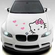 Lovely  Hello kitty design car styling ,car hood stickers and decals,car head decor for Ford focus/BMW/Benz/KIA/Chevrolet/Skoda