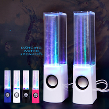 Hot sale Free shipping Dancing Water Speaker Active Portable Mini USB LED Light Speaker For iphone ipad PC MP3 MP4 PSP Russia