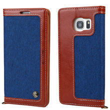 Lanyard Magnetic Flip Canvas Leather Luxury Wallet Case for Samsung Galaxy S7 Edge S8 Plus Brand Phone Cover Coque Capinha