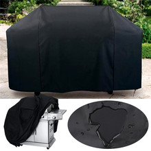 Large Black Waterproof BBQ Grill Barbeque Cover Outdoor Rain Grill Anti Dust Protector For Gas Charcoal Electric Barbecue Bag