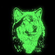 New  Heat Transfer Personality Luminous WOLF Iron On Patches DIY Clothes T-shirt Brand Logo Patch Applied patches for clothing