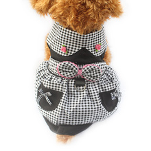 Armi store Black Plaid Summer Dog Dress Pet Fashion Princess Dresses For Dogs 6071038 Puppy Skirt Clothing Supplies