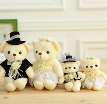 1pair 15cm Hot Selling Item Couple Bears Wedding Bears Wedding Gifts Soft Doll kawaii Toy Brinquedos Free Shipping
