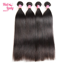 Halo Lady Beauty Hair 10-30inches Brazilian Straight Hair Weaves Non Remy Human Hair Extention 1 bundle each lot 100g Color 1B