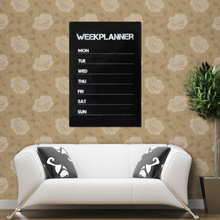 High Quality Weekly Planning Planner Calendar Essential Memo Chalk board Blackboard Wall Sticker Complement Livingroom Office